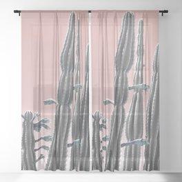 Cactus Bloom Sheer Curtain
