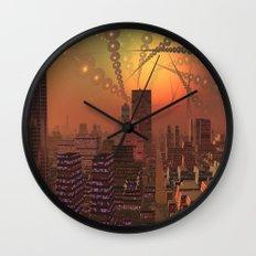 Spherople Alien City Wall Clock