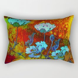 Hello blue poppies! Rectangular Pillow