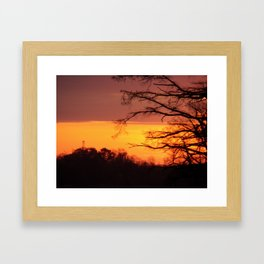 more delights on the james river Framed Art Print