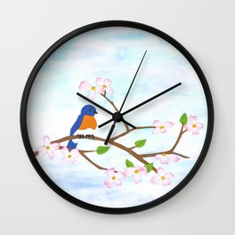 paper springtime Wall Clock