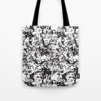 community Tote Bags featuring Community Blowback by InariRaith