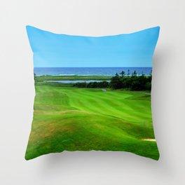 PEI Canada Oceanview Landscape | Nadia Bonello Throw Pillow