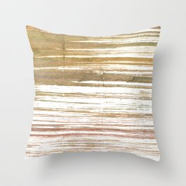 Light taupe abstract watercolor Throw Pillow