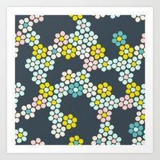 Flower tiles Art Print