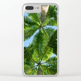 Coconut trees leaves pattern Clear iPhone Case