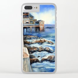 Walking with Steinbeck on Cannery Row Clear iPhone Case