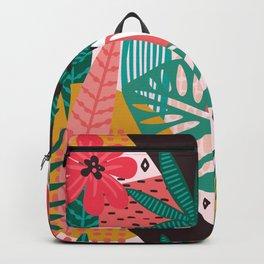 Matisse Inspired Pop Art Tropical Fun Jungle Pattern Backpack