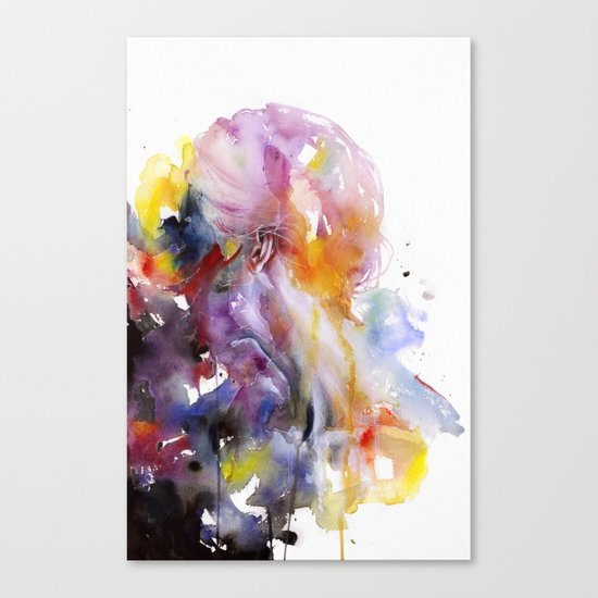 the listener Canvas Print