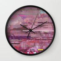 glitch Wall Clocks featuring Glitch  by Mikath