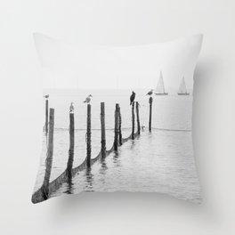 Northern Sea Throw Pillow