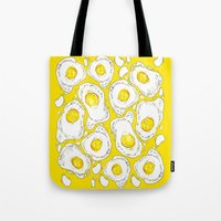 eggs Tote Bags featuring eggs by AnnaToman