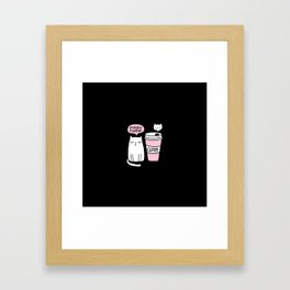Meow coffee cat Framed Art Print