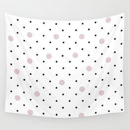 Pin Points Polka Dot Pink Wall Tapestry