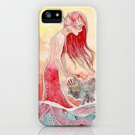 pink mermaid iPhone Case