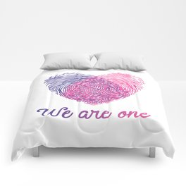 We are one - Valentine love Comforters