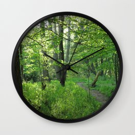 Watercolor Landscape, Eno River 02, North Carolina Wall Clock