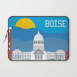 Boise, Idaho - Skyline Illustration by Loose Petals Laptop Sleeve