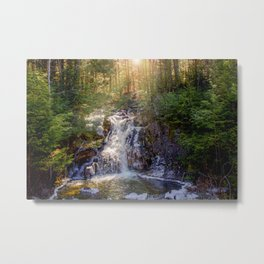 Snow Melt Metal Print