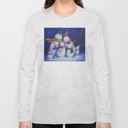 Snow Family Portrait Long Sleeve T-shirt