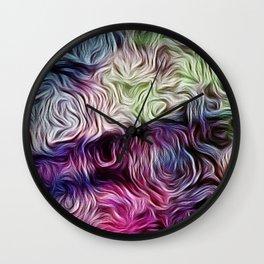 Fusion Of Pastel Wall Clock