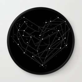 Constellations of the Heart Wall Clock