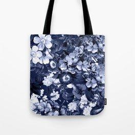 Bohemian Floral Nights in Navy Tote Bag