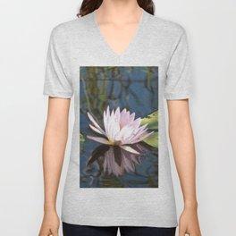 Peaceful Botswana Water Lily Unisex V-Neck