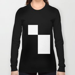 Black and White Color Block #2 Long Sleeve T-shirt