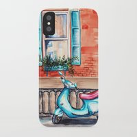 vespa iPhone & iPod Cases featuring Vespa by Alla Lsk