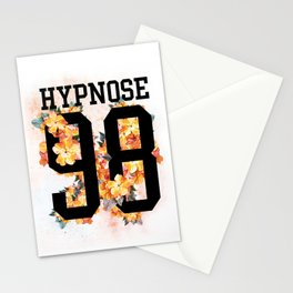Floral sporty print with number and text on it. Stationery Cards