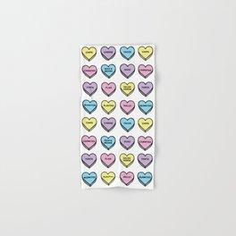 Baesic Candy Hearts - Mexican Food Hand & Bath Towel