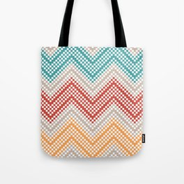 C13 pattern series - pixel chevron Tote Bag