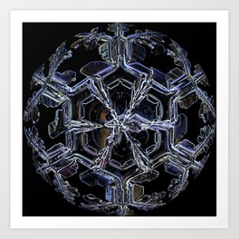 Water as a Crystal, pattern snowflake art on leggings and more! Art Print