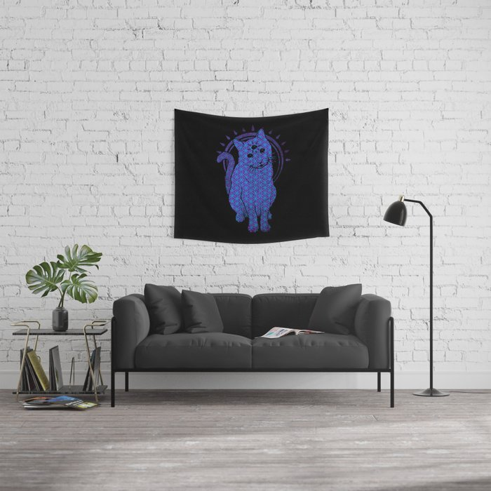 Trippy Cat: 4 Wall Tapestry