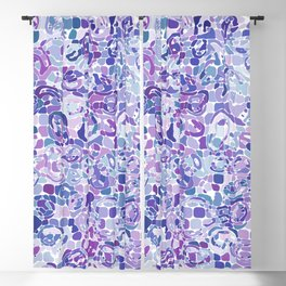Blue and Purple Blobs Blackout Curtain