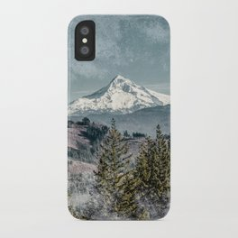 Frosty Mountain iPhone Case