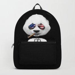 Cool American Panda Black Backpack