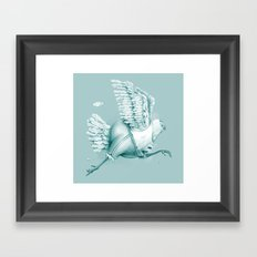 Olimpic Chicken Framed Art Print