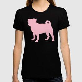 Pastel Pink Pugs Pattern T-shirt