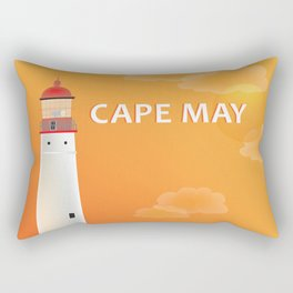 Cape May, New Jersey - Skyline Illustration by Loose Petals Rectangular Pillow