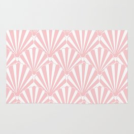 Pink shell Coastal Home / Pink shells/ mermaids dream, pink, clam shart deco style, pink and white, Rug