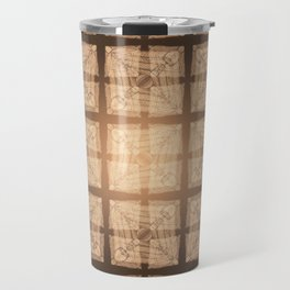 abstract feather pattern II Travel Mug