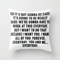 notebook Throw Pillows featuring The Notebook. by S J A E
