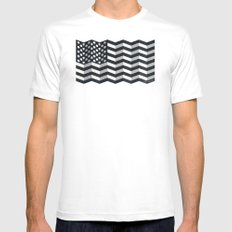 Made in America MEDIUM White Mens Fitted Tee