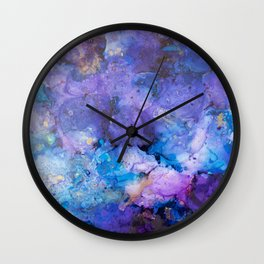 Flirting with Disaster Alcohol Ink Painting Wall Clock