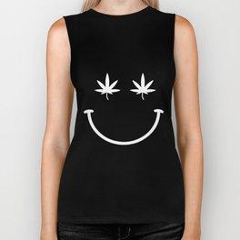 Smile Bodysuit Leotard Top Womens Ladies Hipster  weed Biker Tank