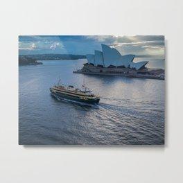 Sydney Ferry And Opera House Metal Print