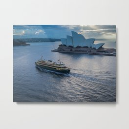Sydney Ferry And Opera House Metal Print