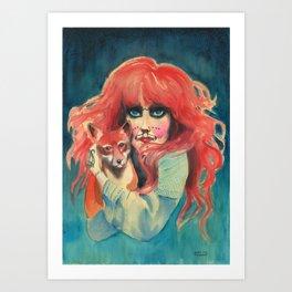 Vali Myers Art Print